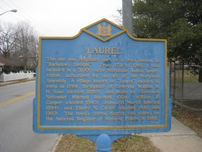 Laurel Marker image. Click for full size.