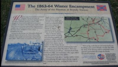 The 1863-64 Winter Encampment Marker Photo, Click for full size