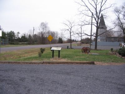 Marker is in the Parking Lot for the Graffiti House Photo, Click for full size