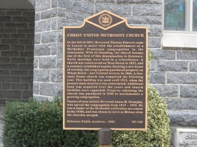 Christ United Methodist Church Marker image. Click for full size.
