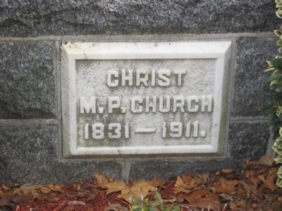 Christ M.P. Church Stone image. Click for full size.