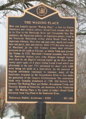 The Wading Place Marker Photo, Click for full size