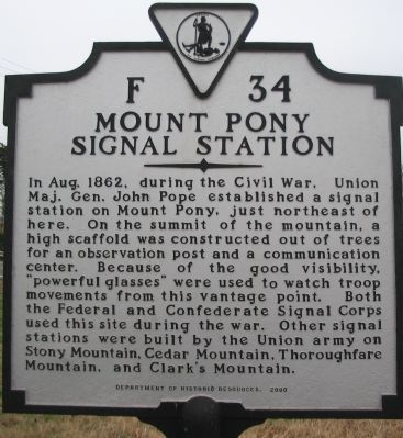 Mount Pony Signal Station Marker Photo, Click for full size