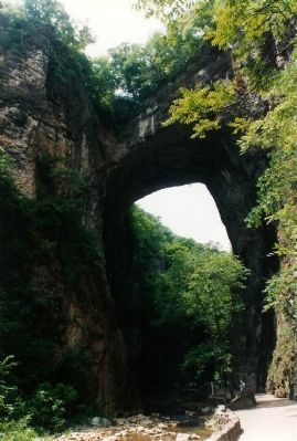 The Natural Bridge View from 1994 Photo, Click for full size
