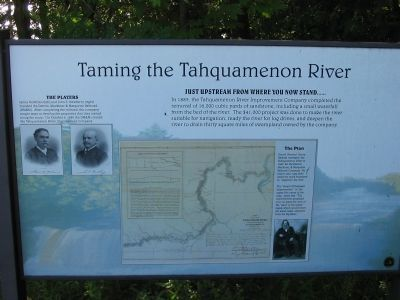 Taming the Tahquamen River Marker image. Click for full size.