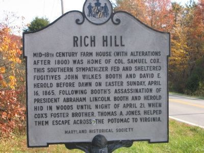 Rich Hill historical marker image. Click for full size.