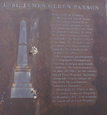 Capt. James Olden Paxson Marker image. Click for full size.
