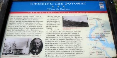 Crossing The Potomac Civil War Trails Marker Photo, Click for full size