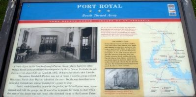 Port Royal Civil War Trails Marker Photo, Click for full size