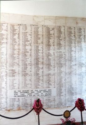 Inside the USS Arizona Memorial Photo, Click for full size