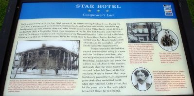 Star Hotel Civil War Trails Marker image. Click for full size.