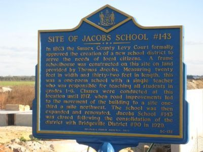 Site of Jacobs School #143 Marker image. Click for full size.