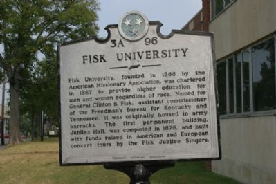 Fisk University Marker. image. Click for full size.