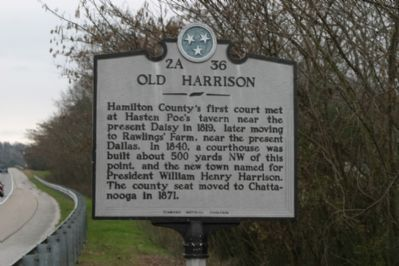 Old Harrison Marker image. Click for full size.