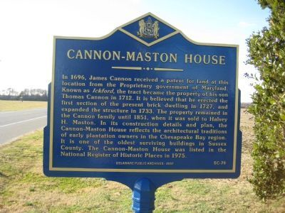 Cannon-Maston House Marker Photo, Click for full size