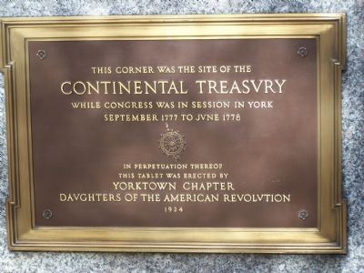 ContinentalTreasury Marker image. Click for full size.