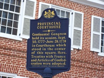 Provincial Courthouse Marker image. Click for full size.