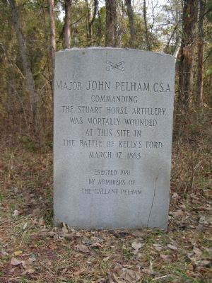 Major John Pelham, C.S.A. Marker Photo, Click for full size