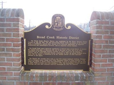 Broad Creek Marker (obverse) Photo, Click for full size