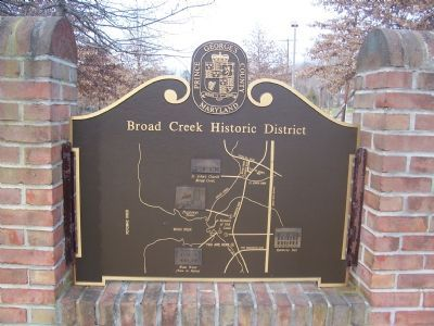Broad Creek Historic District Marker (Reverse) Photo, Click for full size