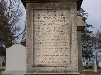 Philip Livingston Marker image. Click for full size.
