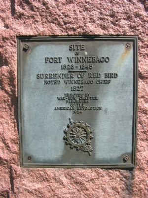 Site of Fort Winnebago Plaque image. Click for full size.