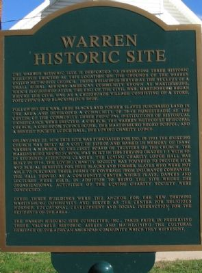 Warren Historic Site Marker Photo, Click for full size