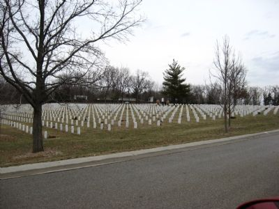 View of Camp Butler burial sites Photo, Click for full size