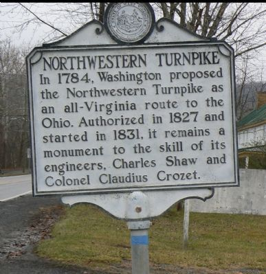 Northwestern Turnpike marker in Capon Bridge, WV Photo, Click for full size