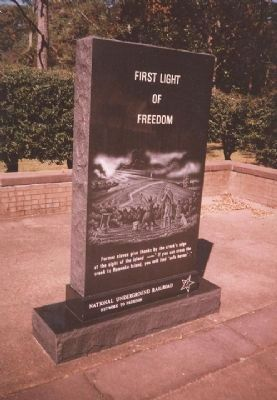 First Light of Freedom Marker image. Click for full size.