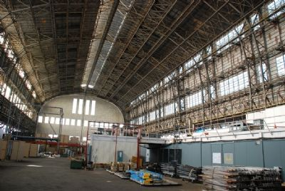 Inside of Historic Hangar No. 1 image. Click for full size.