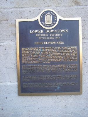 Union Area Station Marker image. Click for full size.
