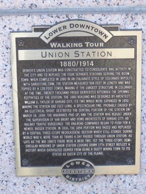 Lower Downtown, Walking Tour, Union Station Marker image. Click for full size.