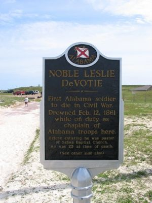 Noble Leslie DeVotie Marker (Reverse) image. Click for full size.
