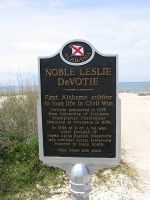 Noble Leslie DeVotie Marker (Obverse) image. Click for full size.