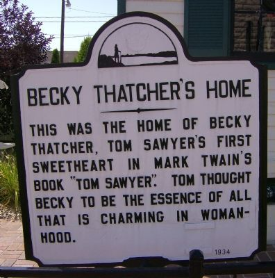 Becky Thatcher's Home Marker image. Click for full size.