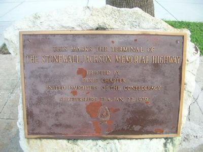 Stonewall Jackson Memorial Highway Terminus Marker image. Click for full size.