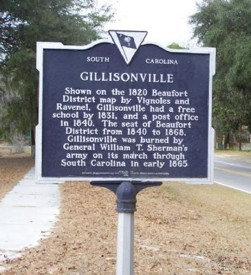 Gillisonville Marker Photo, Click for full size