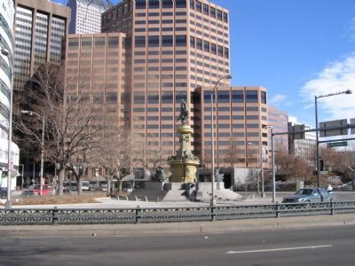 Entire monument seen from south of Colfax Ave. image. Click for full size.
