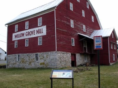 Willow Grove Mill and Civil War Trails Marker Photo, Click for full size