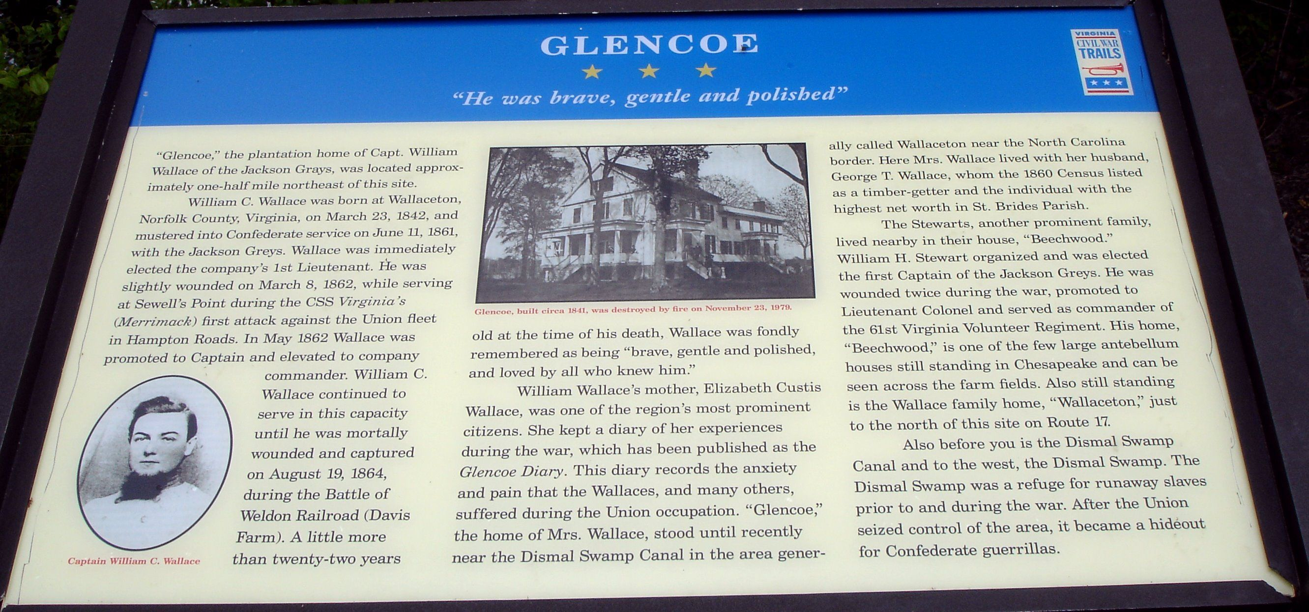 Glencoe Civil War Trails Marker