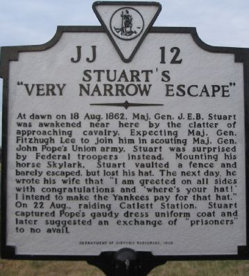 "Stuart's ""Very Narrow Escape"" Marker image. Click for full size."
