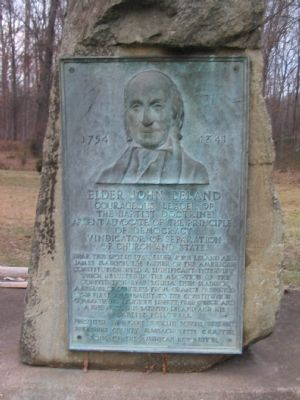 Elder John Leland Marker Photo, Click for full size