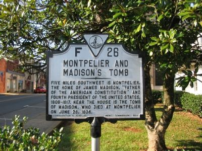 Montpelier and Madison's Tomb Marker image. Click for full size.