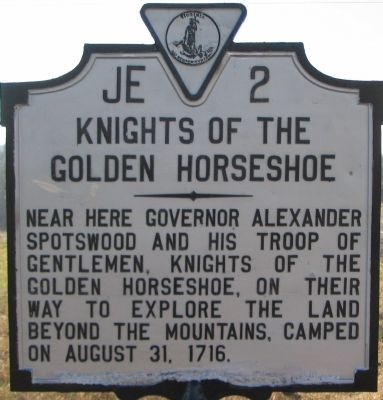 Knights of the Golden Horseshoe Marker image. Click for full size.