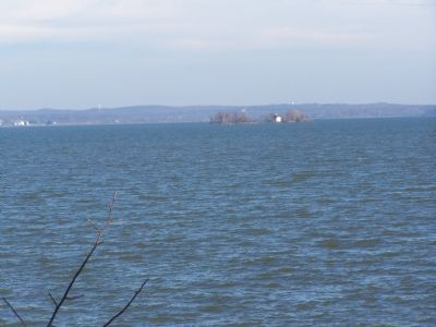 Chesapeake Bay seen from marker. image. Click for full size.