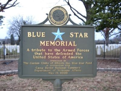 Nearby Blue Star Memorial Marker Photo, Click for full size