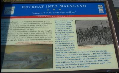 Retreat into Maryland Marker image. Click for full size.