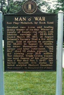 Man o&#39; War Marker <i>(obverse) Photo, Click for full size