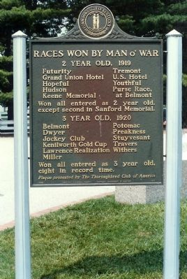 Man o&#39; War Marker <i>(reverse) Photo, Click for full size